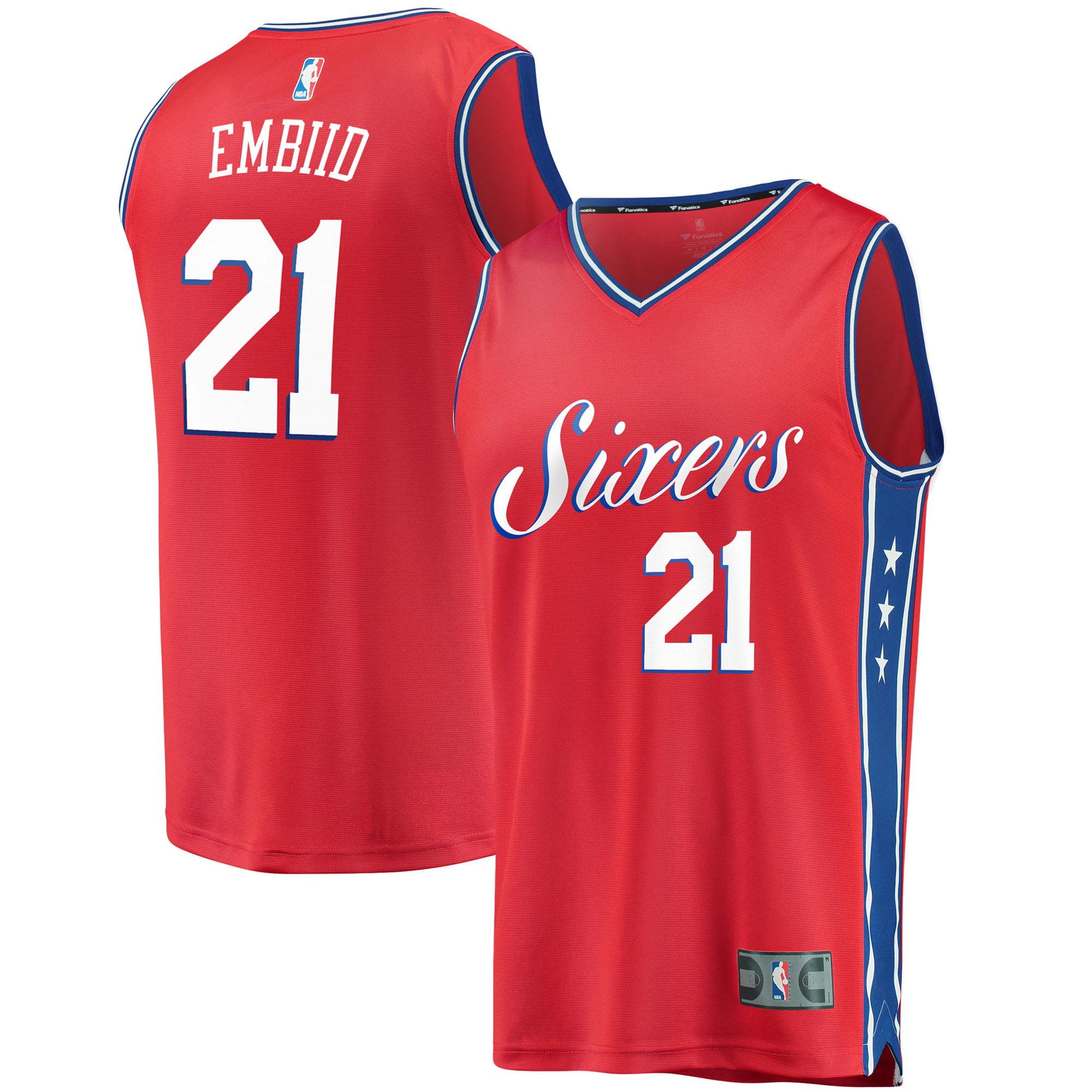 Joel Embiid Philadelphia 76ers Fanatics Branded Fast Break Replica Jersey Red - Statement Edition