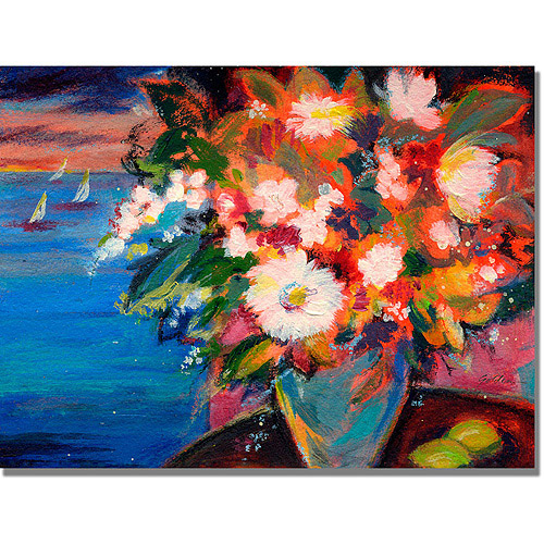 "Trademark Art ""By the Water"" Canvas Wall Art by Shelia Golden"