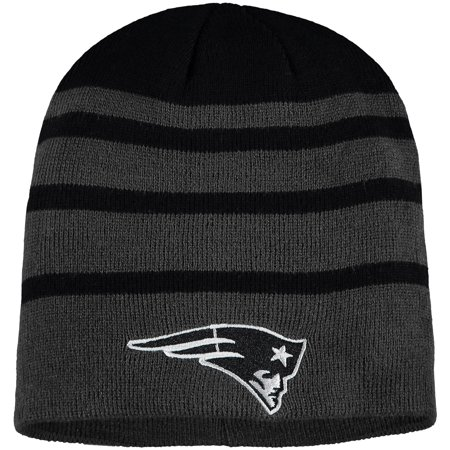 Men's Black New England Patriots Black Wave Knit Beanie - OSFA New England Patriots Collectibles