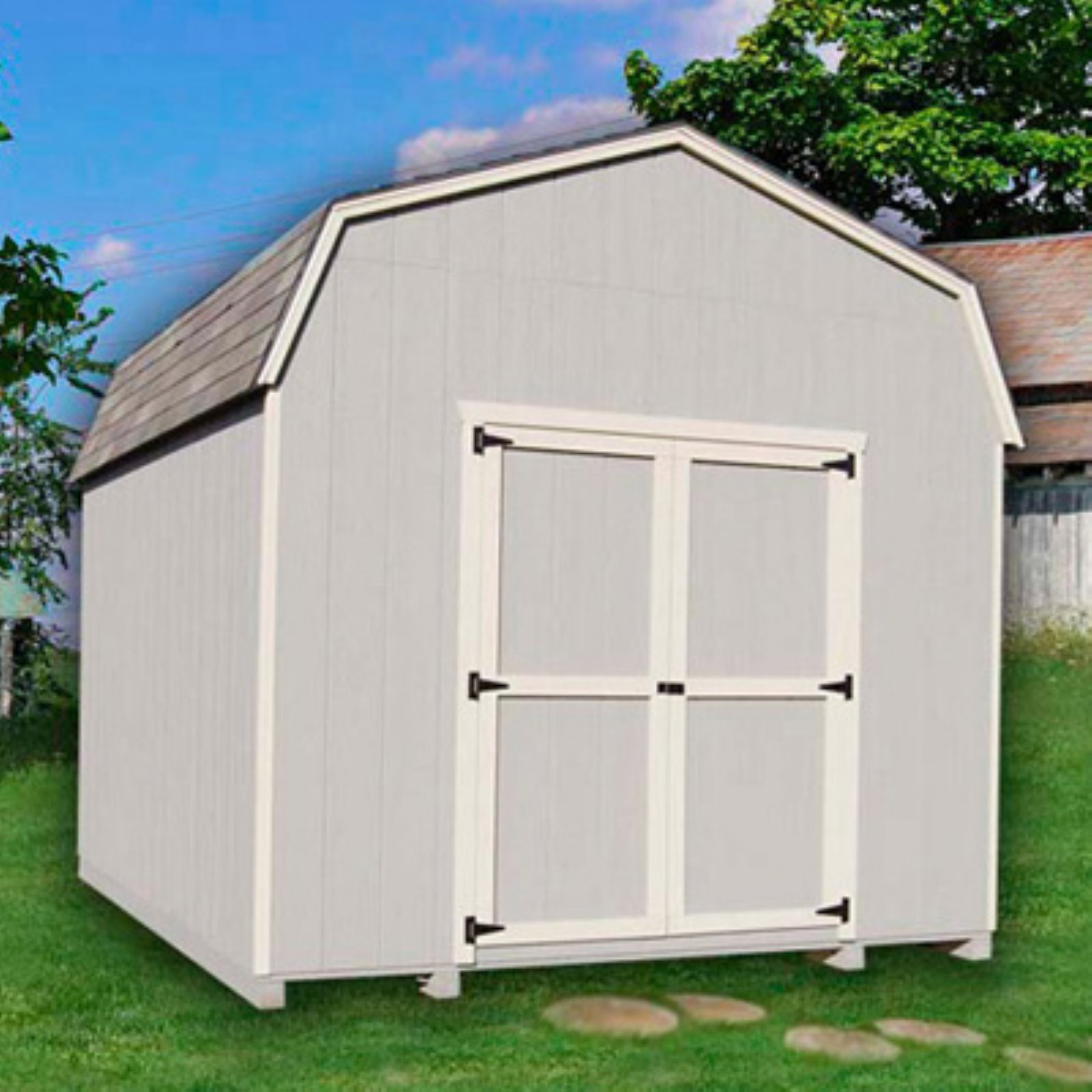Little Cottage 10 x 12 ft. Value Gambrel Barn Precut Storage Shed - 6 ft. Barn