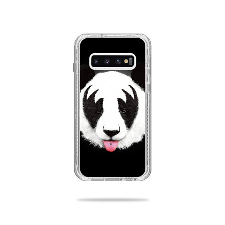 Skin For Lifeproof Next Case Samsung Galaxy S10 - Rock N Roll Panda | MightySkins Protective, Durable, and Unique Vinyl Decal wrap cover | Easy To Apply, Remove, and Change Styles