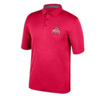 Men's Scarlet Ohio State Buckeyes Axis Polo