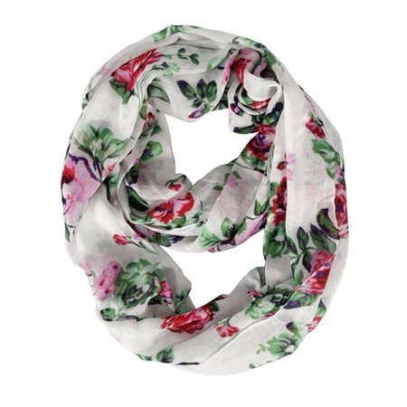 Peach Couture Premium Graphic Floral Print infinity loop scarves ()
