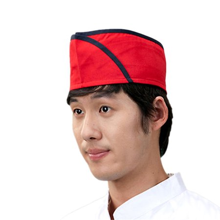 Cook Hats (Sushi japanese working restaurant red chef hat cook cap for men and women)