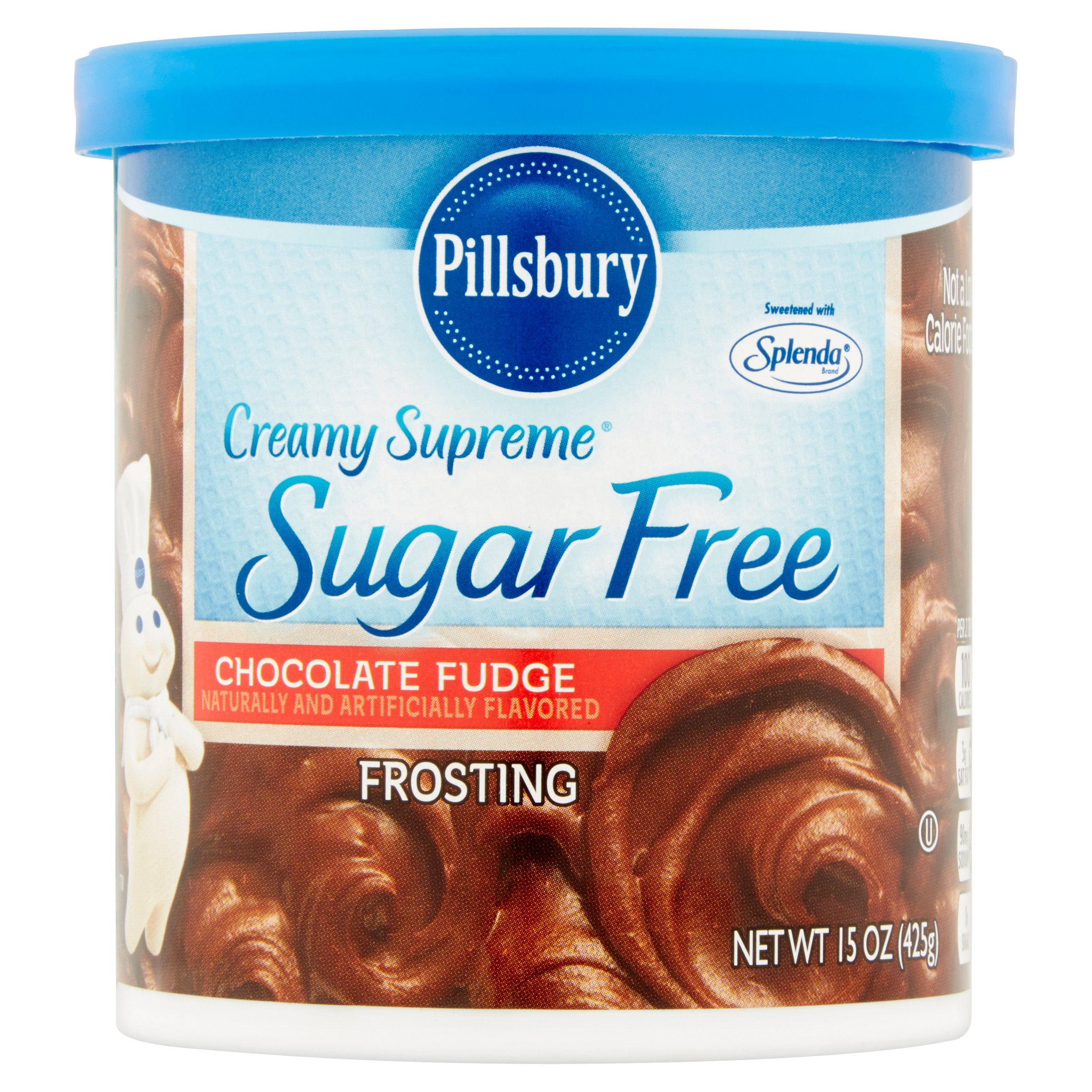 Pillsbury Creamy Supreme Chocolate Fudge Sugar Free Frosting, 15oz ...