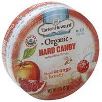 Torie & Howard Blood Orange & Honey Organic Hard Candy, 2 oz, (Pack of 8)