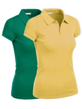 Essential Basic Women Junior Short Sleeve Pique Polo Golf School Uniform Shirt - S-3XL