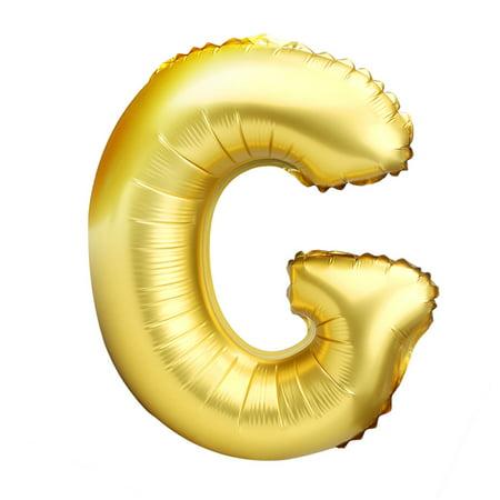 New 40 inch A to Z Letter Foil Balloons Party Ballon Gold Color](Ballon Frame)