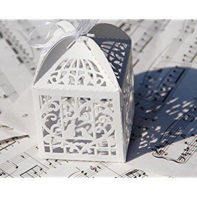 60s Wedding Favor Box Love Bird Candy Bag Chocolate Gift Box Bridal ...