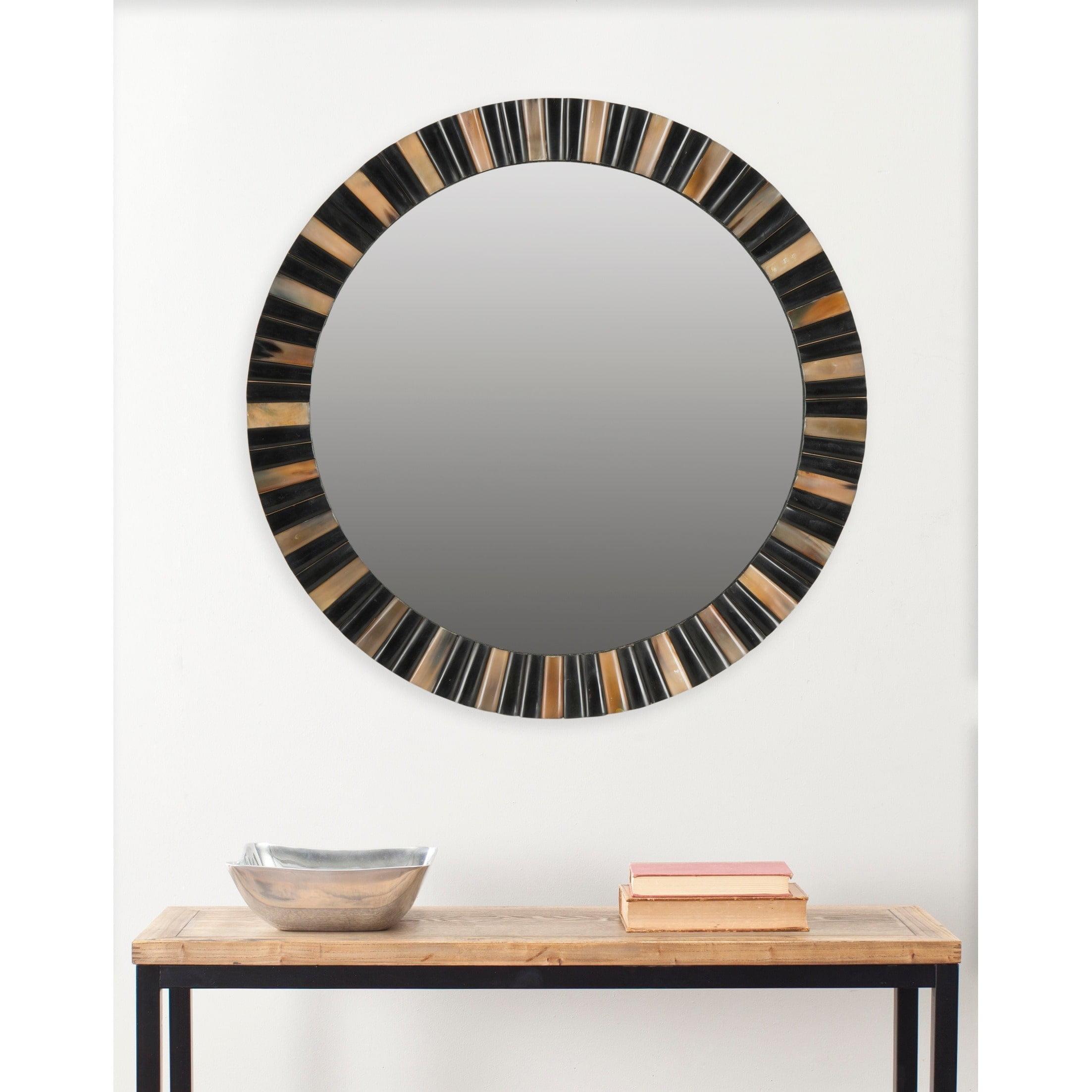 Safavieh Deco Faux Tigers Eye Mirror, Multi by Safavieh