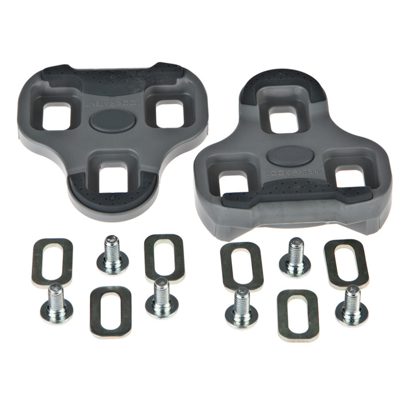 Look Keo Bi-Material Cleat set Grey with 4.5 Degree Float and hardware