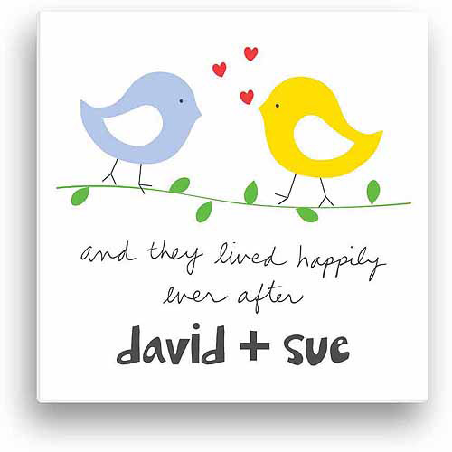 Personalized Sandra Magsamen Happily Ever After Canvas