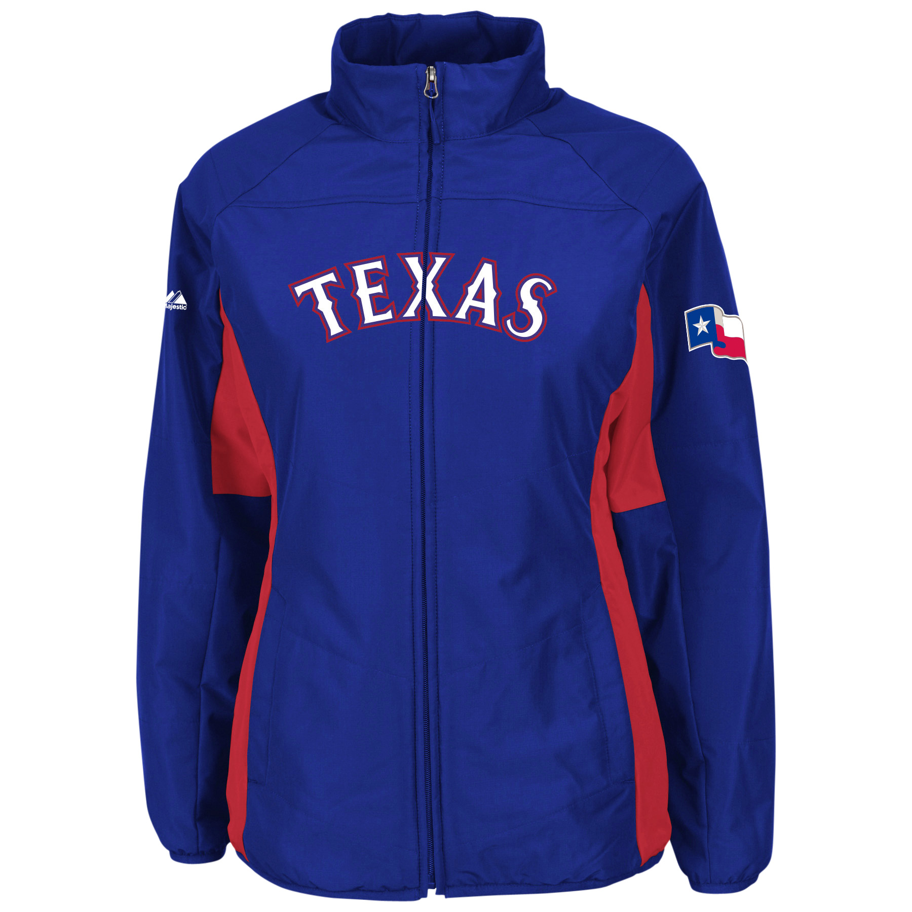 Texas Rangers Majestic Women's Authentic Collection Double Climate Full Zip Jacket - Royal