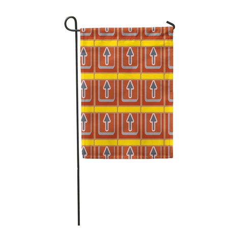 Arrow Mobile (SIDONKU Accent Abstract Pattern Arrows on Button Bottom Cellphone Garden Flag Decorative Flag House Banner 12x18 inch )