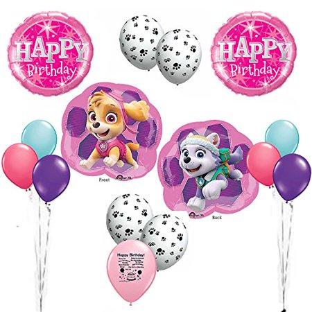Skye Pink Paw Patrol Happy Birthday Balloon Decoration Kit