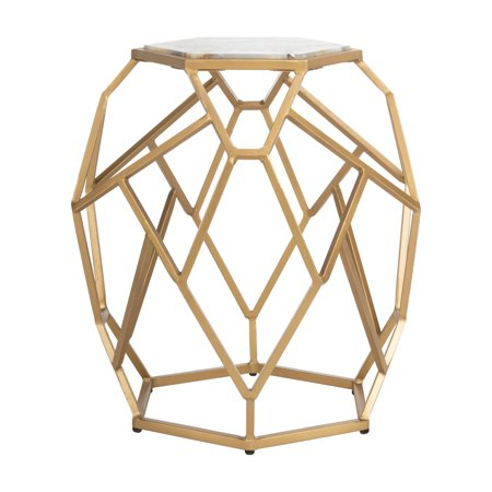 promo code bbacc a3fa8 Safavieh Ava Modern Glam Geometric Accent Table