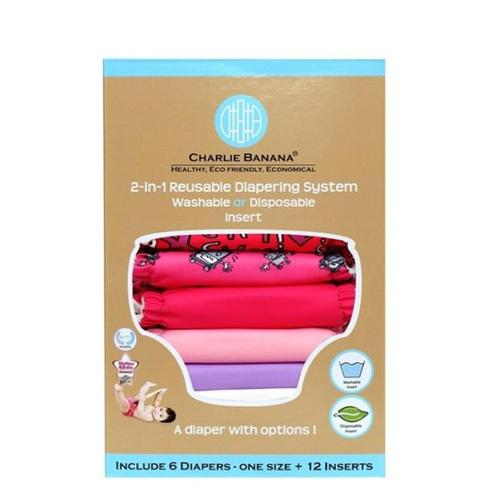 Winc Design Limited 889475 6 Diapers 12 Inserts Set Matthew Langille Girl Large