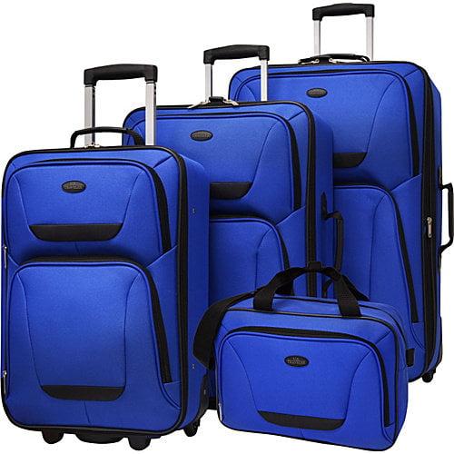 U.S. Traveler 4-Piece Lightweight Luggage Set