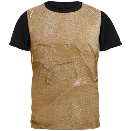 Halloween Peanut Butter PB Sandwich Costume All Over Mens Black Back T Shirt](Runescape 07 Halloween)