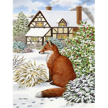 Carolines Treasures ASA2046GF Fox By The Cottage Flag Garden Taille - image 1 de 1