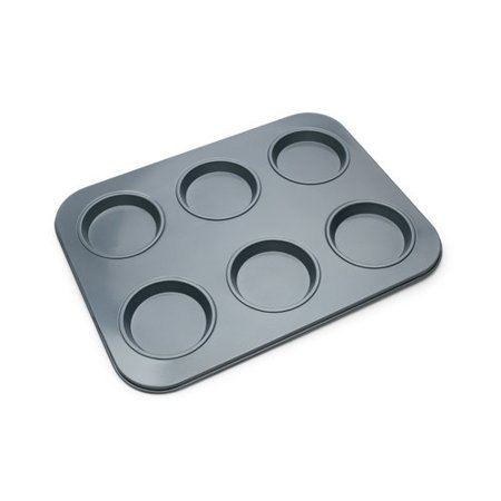 Fox Run Brands Non Stick 6 Cup Large Shallow Muffin Pan