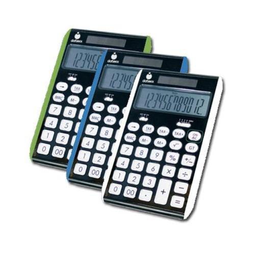 12 digit Hybrid Solar/Battery Powered slim line desktop calculator DXXDD180