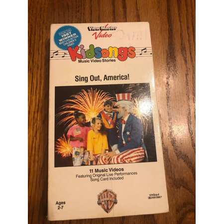 Kid songs Music Video Stories Sing Out America! vhs Ships N 24h -  Walmart com