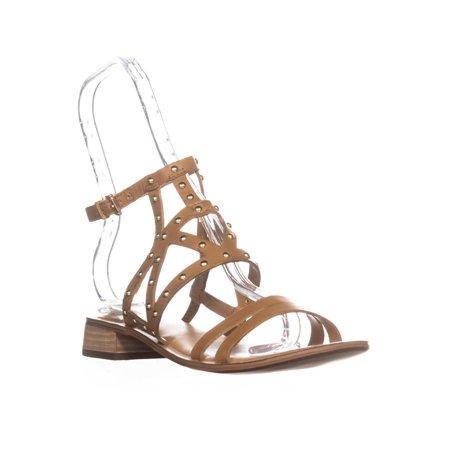 743cea80c Franco Sarto - Womens Franco Sarto Alyssa Flat Ankle Strap Sandals, Tan  Leather - Walmart.com
