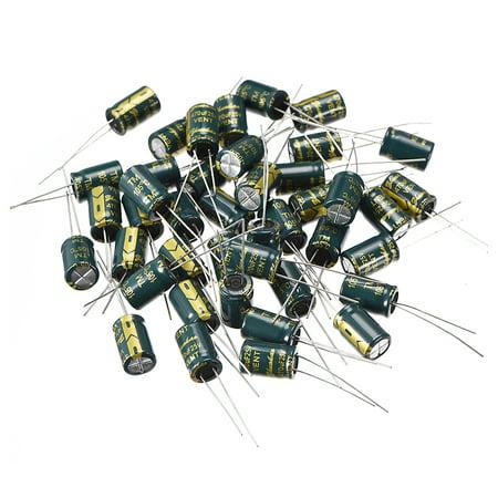 Aluminum Radial Electrolytic Capacitor 470uF 25V Life 8 x 12 mm 40pcs