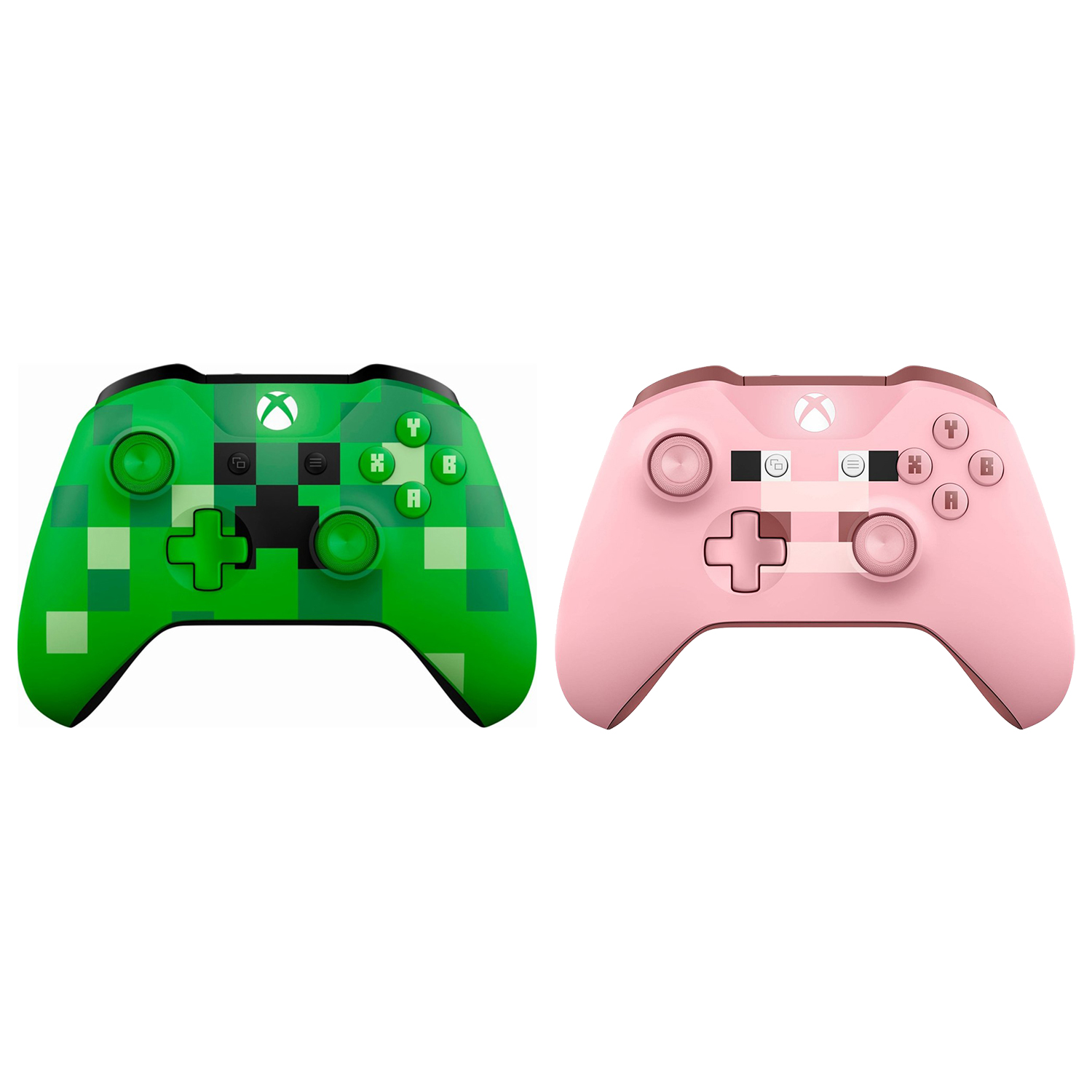 Xbox One Bluetooth Wireless Controller Minecraft Creeper and Pig Edition by Microsoft