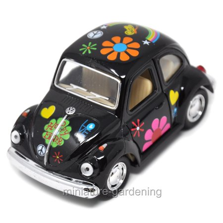 Miniature VW Beetle, Color Options for Miniature Garden, Fairy Garden