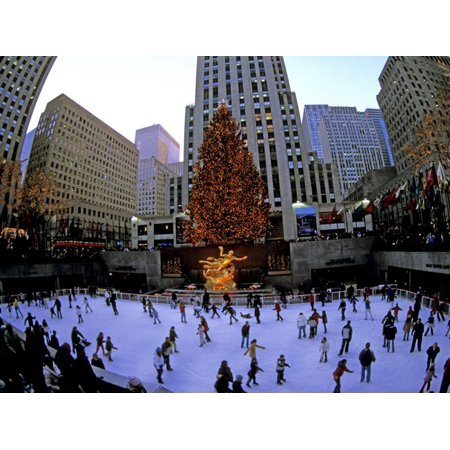 Rockafeller Center at Christmas, New York City, New York, USA Print Wall Art By Bill Bachmann ()