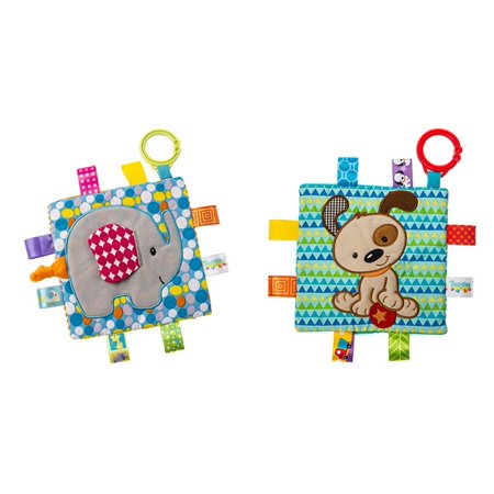 Taggies Crinkle Me Toy 2 Pc. Set - Elephant & Brother