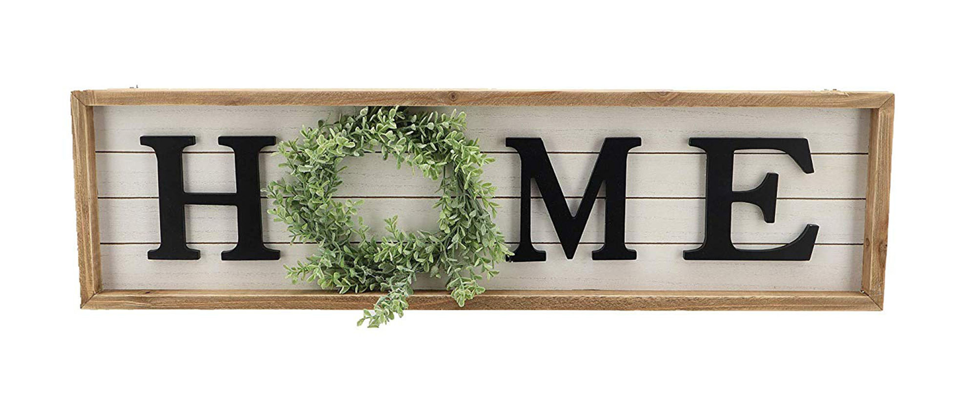Paris Loft Wooden Framed Home Plaque With Green Wreath For The O Housewarming Home Decor Large Farmhouse Home Signs Plaque Wall Hanging Decor For Mantle Living Room 31 5x1 25x8 75 Walmart Com Walmart Com