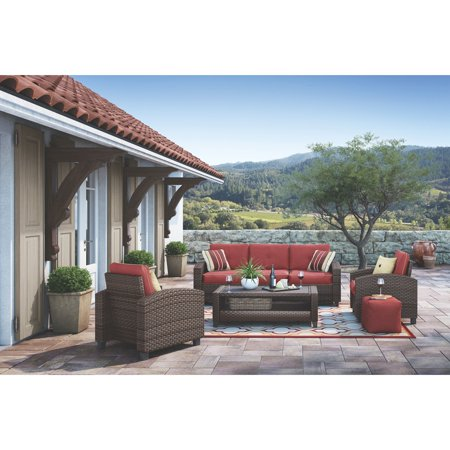 Signature Design by Ashley Meadowtown Wicker 4 Piece Conversation Patio (Whitney Design Wicker)
