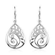 Elegant 925 Sterling Silver Stylish Dangle Drop Earrings Fashion Costume Jewelry for Women