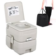 Yaheetech 5 Gal 20L Portable Outdoor Camping Recreation Toilet Grey