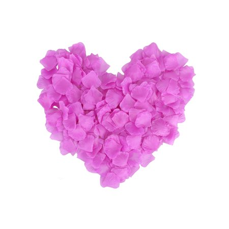 1000 Pcs Wedding Bridal Shower Decoration Artificial Silk Flower Petals Purple](Purple Flower Petals)