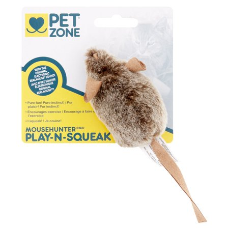 Cigar Cat Toy - (2 Pack) Pet Zone Play-N-Squeak Mousehunter Cat Toy