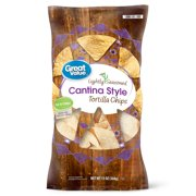 Great Value Thin & Crispy Cantina Style Tortilla Chips, 13 Oz.