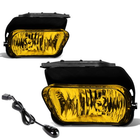 05 Fog Light Kit - For 2002 to 2007 Chevy Silverado Pair of Bumper Driving Fog Lights + Wiring Kit + Switch (Amber Lens) 03 04 05 06