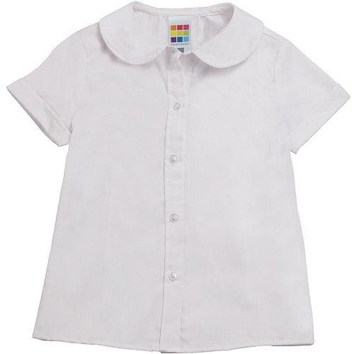 Healthtex Baby Girls' Short Sleeve Woven Poplin Shirt