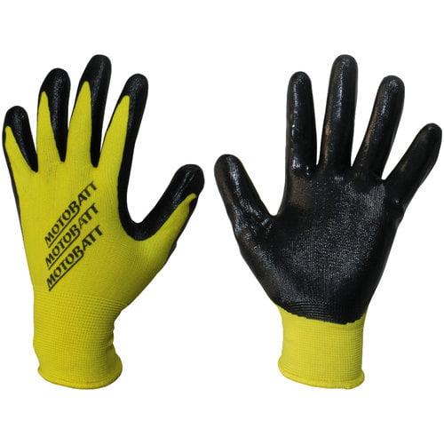 MotoBatt MBGSM Technicians Gloves Nitrile Coated Palm