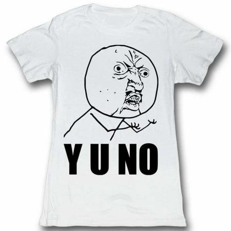 Y U No Memes Yu�..? Juniors Short Sleeve T - Halloween Diabetes Memes