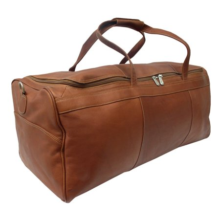 Piel Leather Travelers Select Large Duffel Bag - Saddle