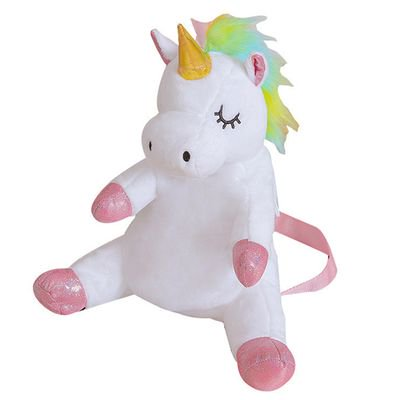 Fancyleo Unicorn Nice Choice Cute Toddler Backpack Toddler Bag Plush Animal Cartoon Mini Travel Bag for Baby Girl Boy 1-6 Years