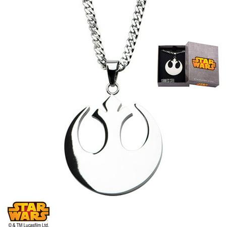 Disney Stainless Steel Rebel Alliance Symbol Pendant, 22