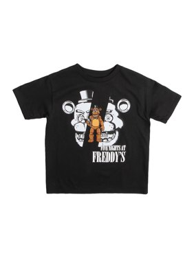 Five Nights at Freddy's Boys 4-18 Character Face Graphic T-Shirt