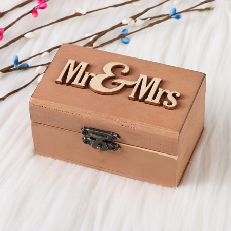 Personalized Retro hotsales Wedding Ring Box Holder Shabby Chic Rustic Wooden Bearer Box](Ring Bearer Options)