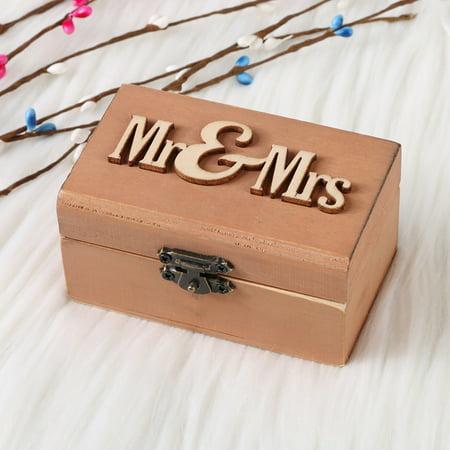 Personalized Retro hotsales Wedding Ring Box Holder Shabby Chic Rustic Wooden Bearer Box